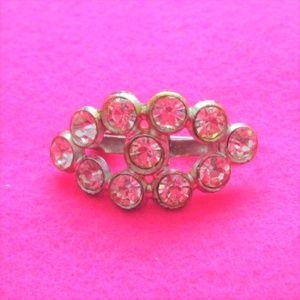 vintage jewelry oblong rhinestone pin brooch
